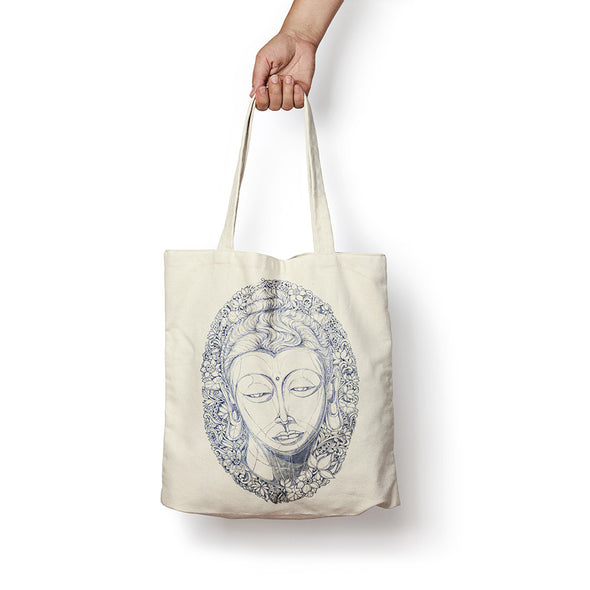 """Head of Buddha"" Tote Bag by Sithzam"