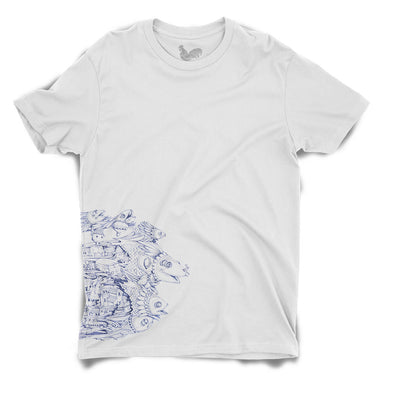Blue Fishes Unisex Tee by Sithzam