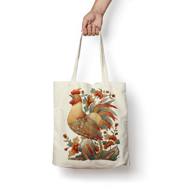 """Ga Hoa Hong"" Tote Bag by Xuan Lam"