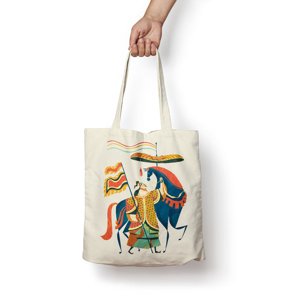 """Annam Soldier"" Tote Bag by KAA illustration"