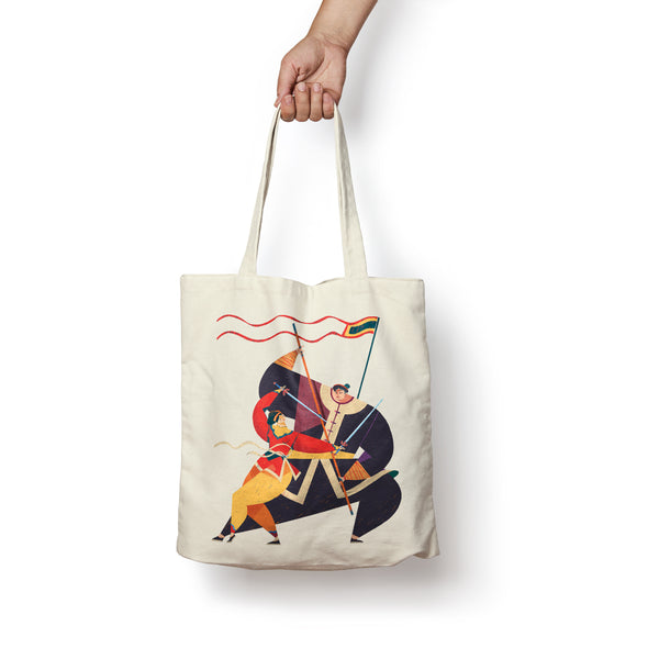 """Binh Dinh Martial Art"" Tote Bag by KAA illustration"