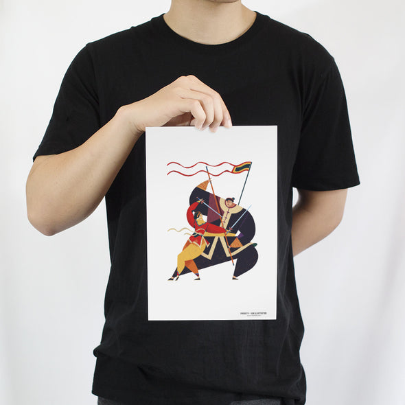 """Binh Dinh Martial Art"" Artprint by KAA illustration"
