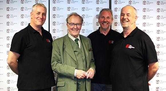 Robert Hardy a day with The Longbow Shop