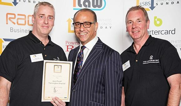 Longbow Shop wins business award by Theo Paphitis