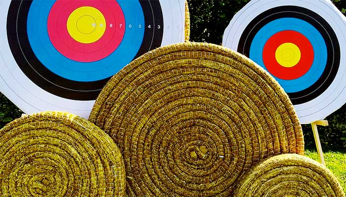 Straw archery targets by Egertec