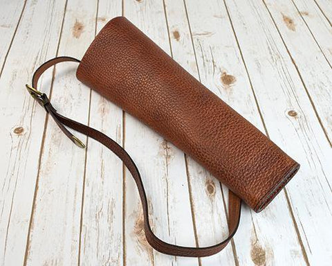 Back Quiver handmade in brown leather