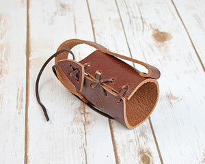 Archers Equipment - Bottle Holder Leather Brown