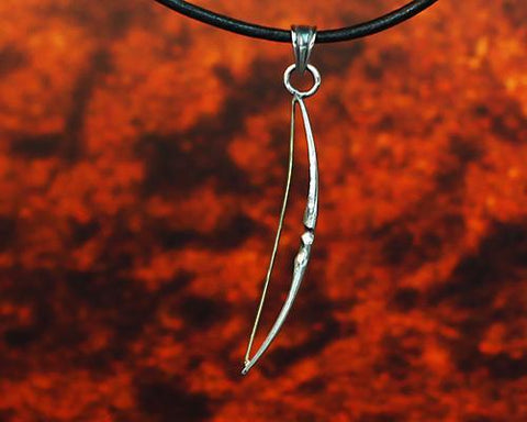 Archers Equipment - Archers Jewellery Flatbow Pendant
