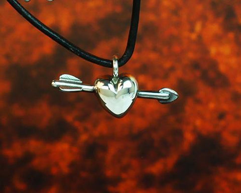 Archers Equipment - Archers Jewellery Heart And Arrow Pendant