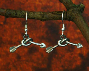 Archers Equipment - Archers Jewellery Knotted Arrow Earrings