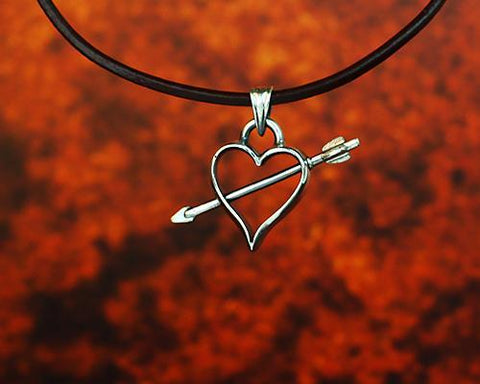 Archers Equipment - Archers Jewellery Open Heart Pendant In Silver