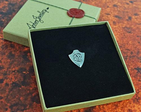 Archers Equipment - Archers Jewellery Silver Arrowhead Pin Badge