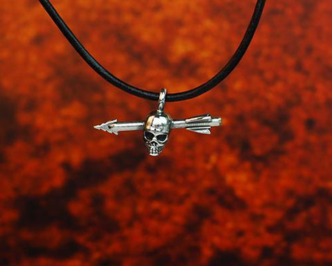 Archers Equipment - Archers Jewellery Skull Arrow Pendant