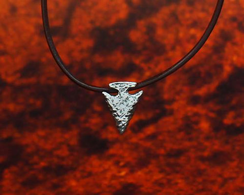 Archers Equipment - Archers Jewellery Small Arrow Head Pendant In Silver