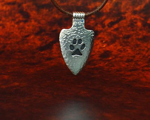 Archers Equipment - Archers Jewellery Wolf Paw Pendant In Silver