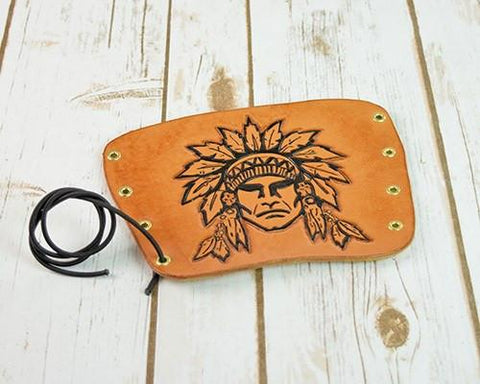 Archers Equipment - Arm Guard Leather Handmade American Indian