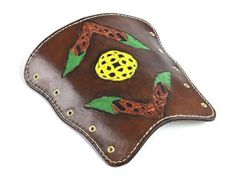 Archers Equipment - Arm Guard Leather Handmade Celtic Knot