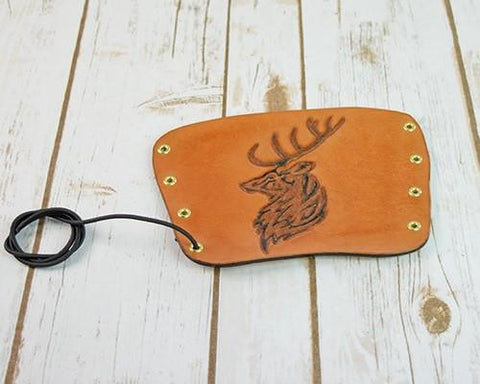 Archers Equipment - Arm Guard Leather Handmade Deer
