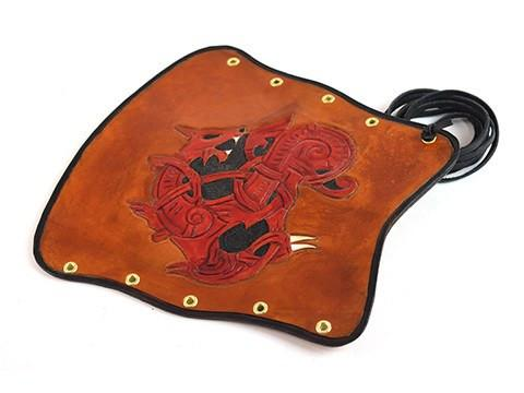 Archers Equipment - Arm Guard Leather Handmade Dragon Brown