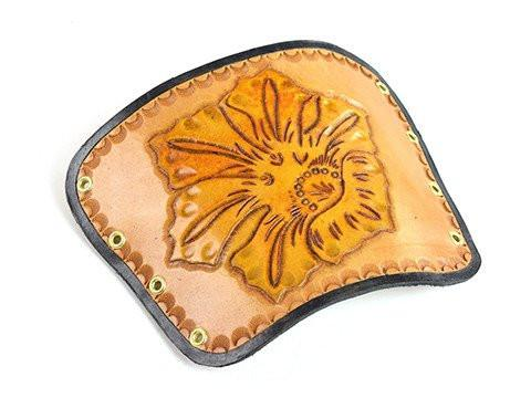 Archers Equipment - Arm Guard Leather Handmade Flower Small