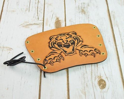 Archers Equipment - Arm Guard Leather Handmade Tiger