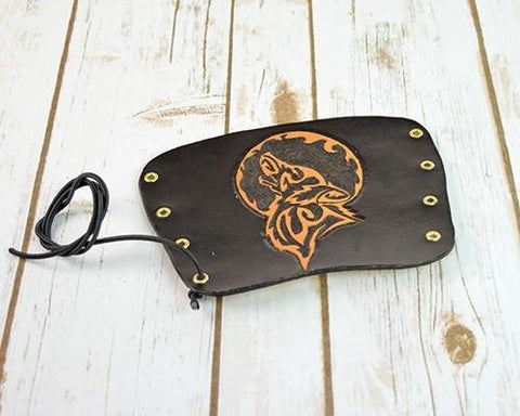 Archers Equipment - Arm Guard Leather Handmade Wolf