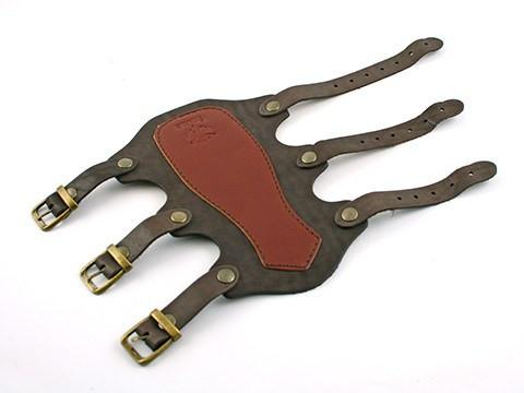 Archers Equipment - Arm Guard Strele Leather Buckle