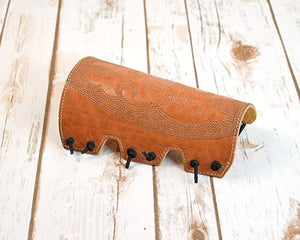 Archers Equipment - Atilla Armguard Carved Dots AACD09