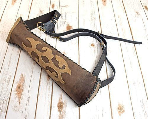 Archers Equipment - Atilla Unique Leather Back Quiver AABQHUN06