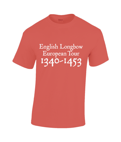 Archers Equipment - English Longbow European Tour T Shirt