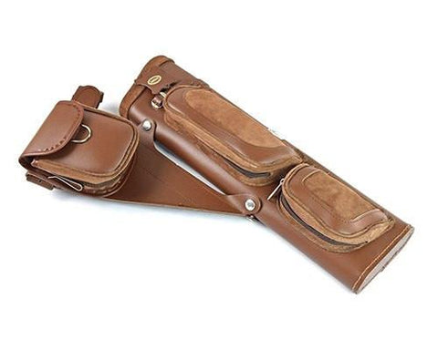 Archers Equipment - Gompy Elite Leather Side Quiver Brown