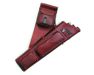 Archers Equipment - Neet Leather NT 2300 Burgundy Quiver