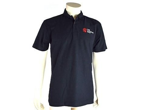 Archers Equipment - New Black Polo Shirt With Red White Logo