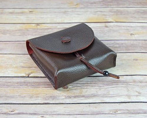 Archers Equipment - Soft Leather Pouch Bag With Leather Toggle Clasp