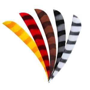 "Arrows And Arrow Making - Bearpaw Fletching Feathers Parabolic 4"" RW Barred"