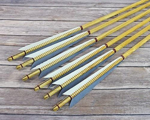 Arrows And Arrow Making,Bows - English Warbow Arrows Ash Chested 1/2 Inch