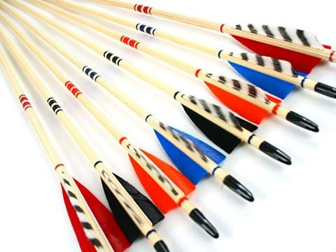Arrows And Arrow Making,Bows - Wood Target Arrows Deluxe Custom