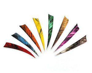 Arrows And Arrow Making - Fletching Feathers Camo Shield 4""