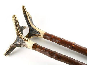 Bow Accessories - Antler Bow Stands With Yew Shank