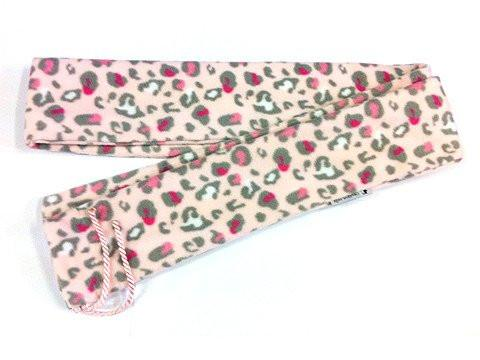 Bow Accessories - Fleece Bow Bag Pink Leopard