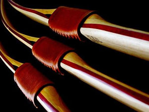 Bows - Bickerstaffe Flatbow Ash, Purpleheart, Lemonwood Custom