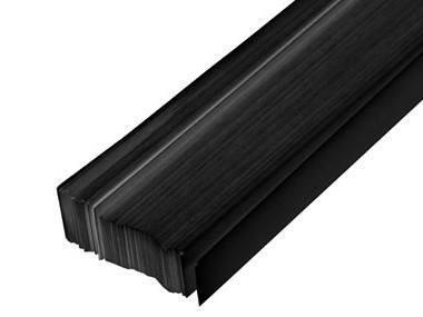 Glass Laminate Black strip 1 85m x 1mm x 50mm