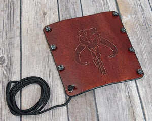 Star Wars Mandalorian design leather bracer