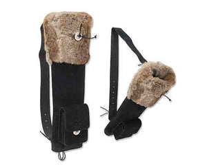 Back Quiver Black Suede with Fur