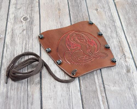 Dragon leather Bracer arm guard