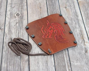 Dragon Head leather Bracer arm guard