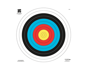 Paper archery target face 60cm Portsmouth FITA