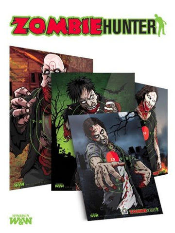 Targets - Zombie Hunter Target Faces Pack Of 8