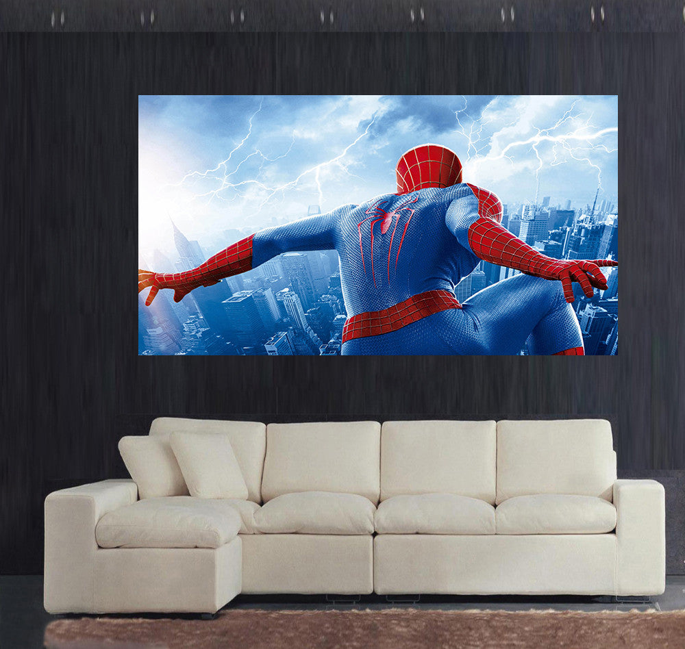 Spiderman Wall Art spiderman wall art canvas printed pictures (sellect size) – artdoom