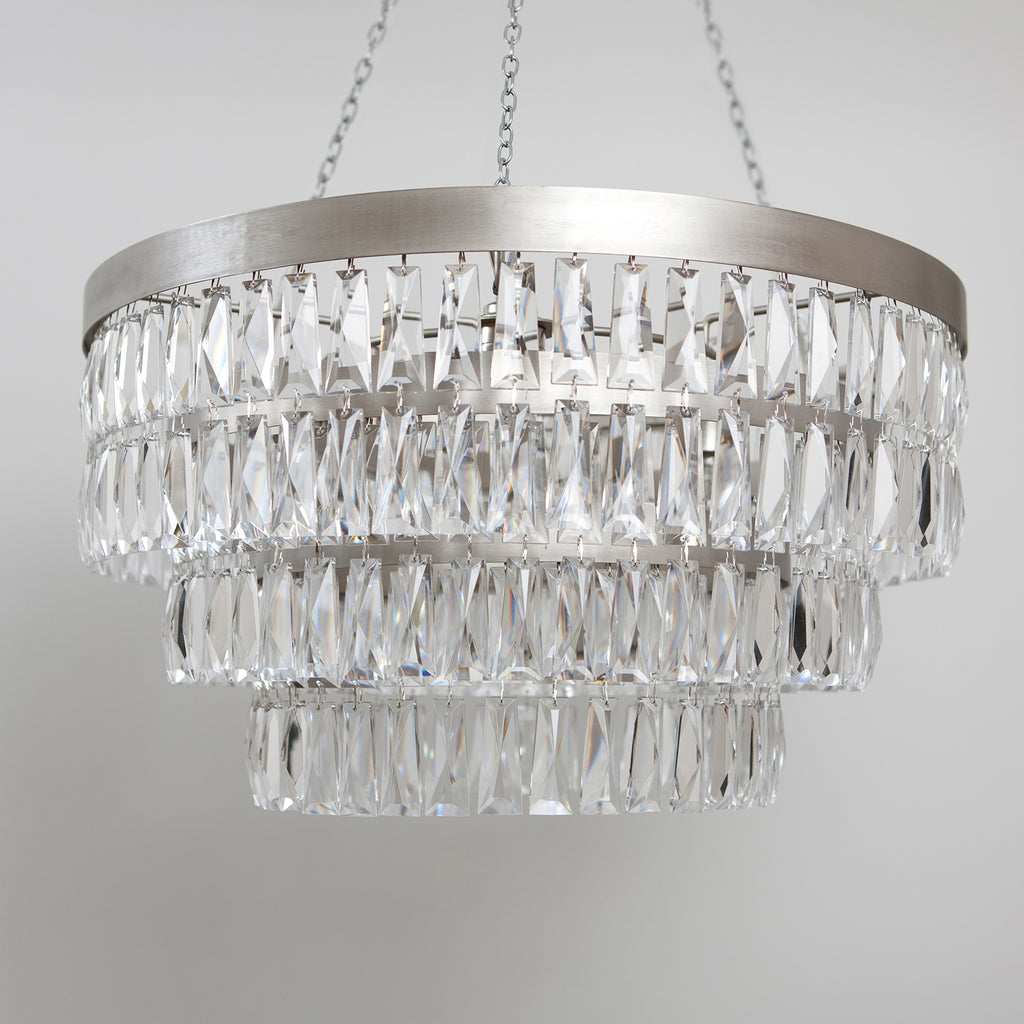 Shallow Chandelier with Crystal